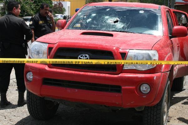 """<p>Imagen de un vehículo perforado por armas de fuego durante un incidente violento en Cobán en agosto de 2008. (Foto: Archivo)<br _mce_bogus=""""1""""></p>"""