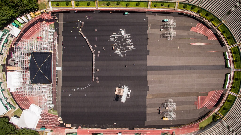 Así luce el escenario en el que actuará Metallica. (Foto Prensa Libre: Cortesía SD Concerts Guatemala)