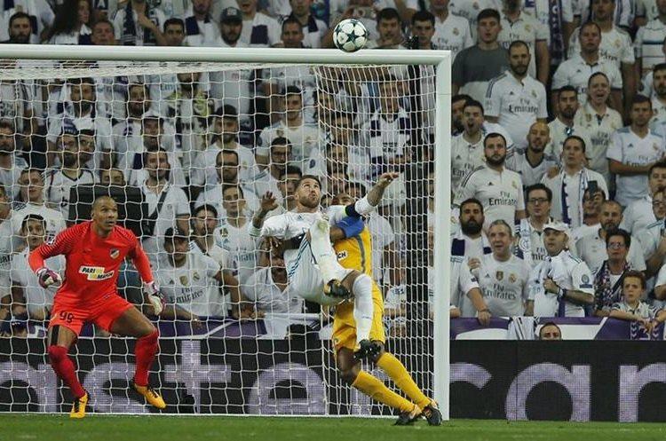 Ramos marcó de chilena en la victoria contra el Apoel.