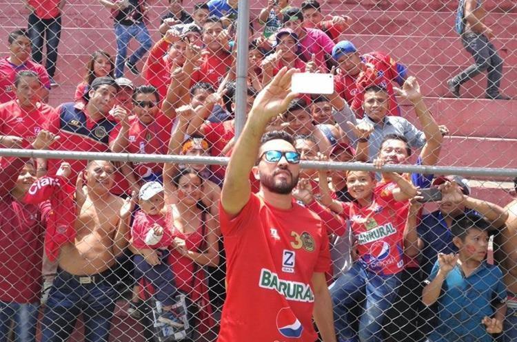 Carlos Kamiani Félix, delantero. (Foto Prensa Libre: Edwin Fajardo)