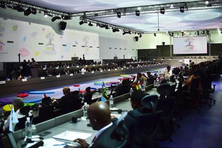 Vista general de la inauguración de la Cumbre del Noal que se celebre en Venezuela. (Foto Prensa Libre: AFP).