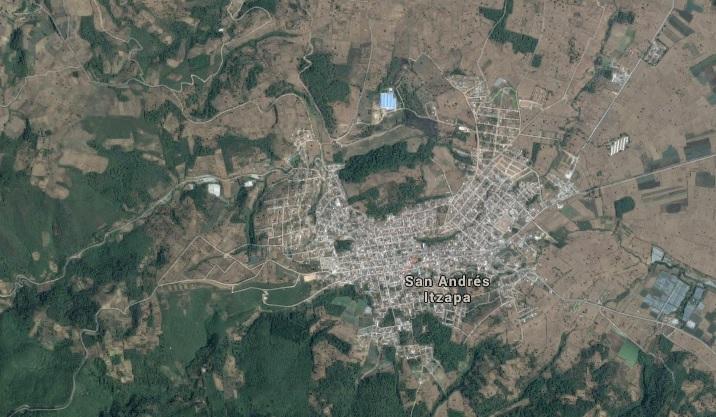 Mapa de San Andrés Itzapa, Chimaltenango. (Foto Prensa Libre: Google Maps)