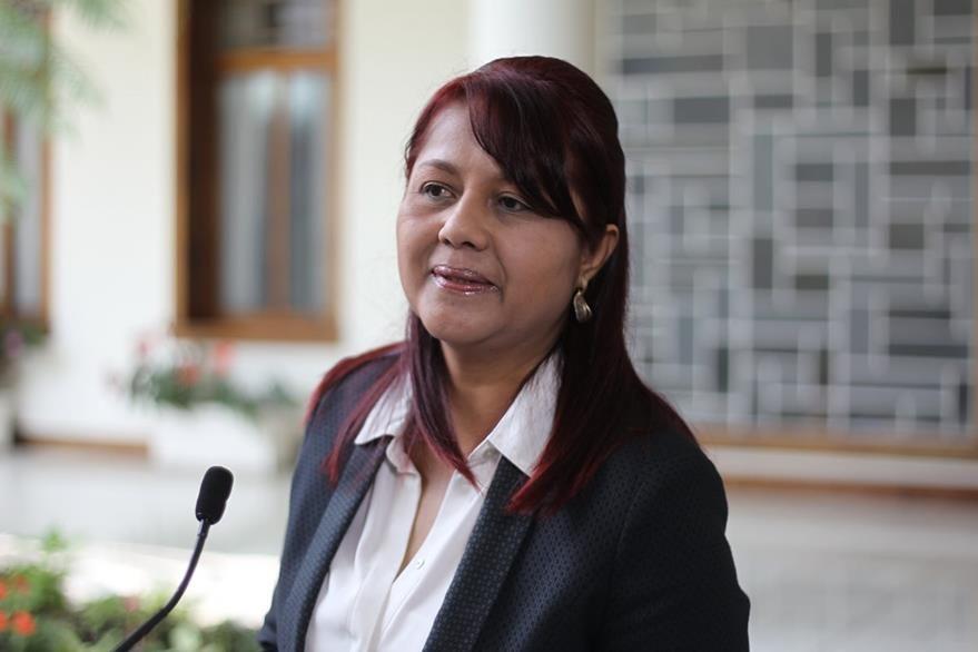 Eunice Mendizabal será la nueva titular en el ministerio de Gobernación. (Foto Prensa Libre: Hemeroteca PL)