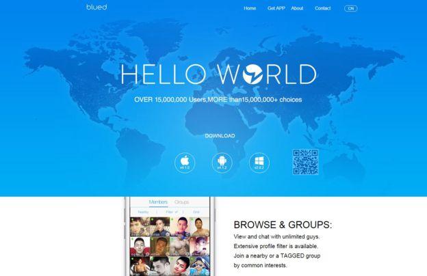 La app móvil Blued cuenta con unos 30 millones de usuarios.  PÁGINA WEB BLUED