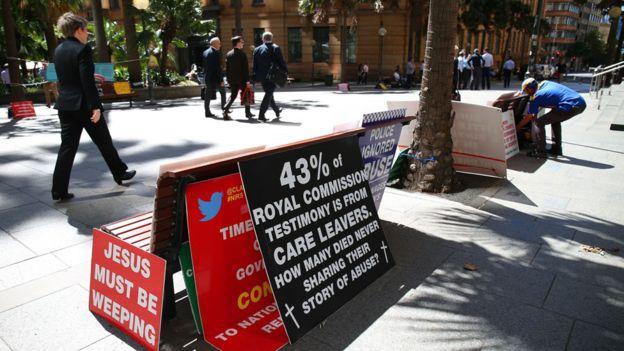 Igual que en Reino Unido, en Australia también hubo indignación por el histórico abuso infantil. EPA