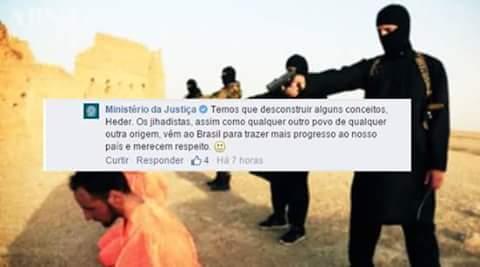Usuarios de las redes se mofaron del error del ministerio. (Foto tomada de Facebook/Alexandro Lacerda).