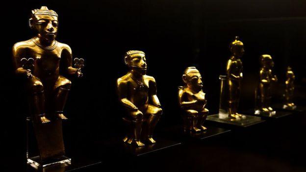 El tesoro de Quimbaya se encuentra en España desde 1892. GETTY IMAGES