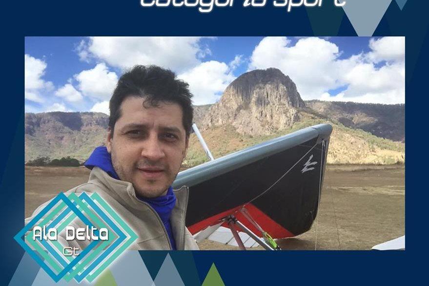 El atleta guatemalteco José Ricardo Sandoval se mantiene en el quinto lugar del ranking mundial, categoría Sport. (Foto Prensa Libre: Alas Delta)