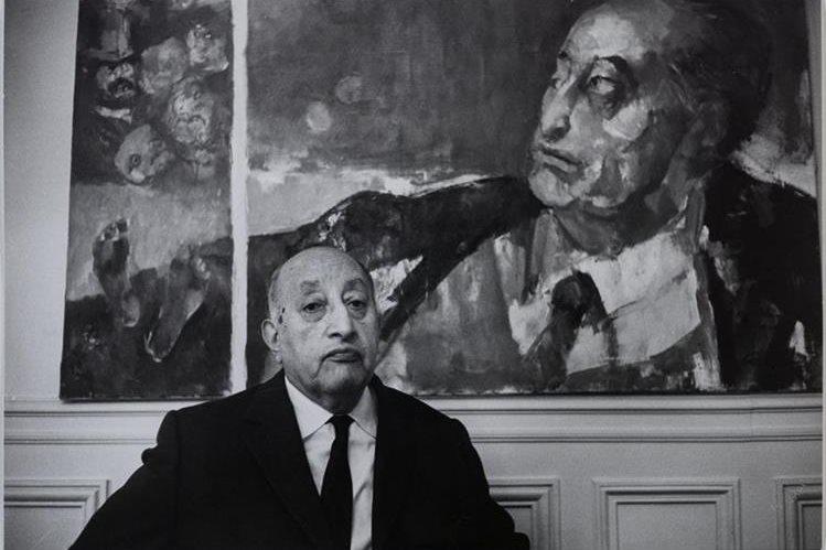 Miguel Ángel Asturias en Francia. (Foto Prensa Libre, tomada de la Biblioteca Nacional de París, Jean Marquis)