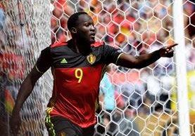 Romelu Lukaku se lució en el triunfo de Bélgica en la Eurocopa. (Foto Prensa Libre: EFE)