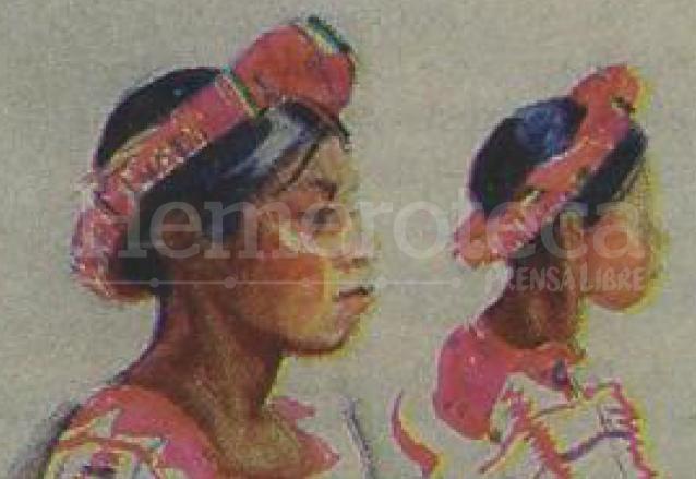Detalle de la pintura del maestro Alfredo Gálvez Suárez donde plasmó a Chonita y sirvió como base para grabar el perfil en la moneda de 25 centavos. (Foto: Hemeroteca PL)