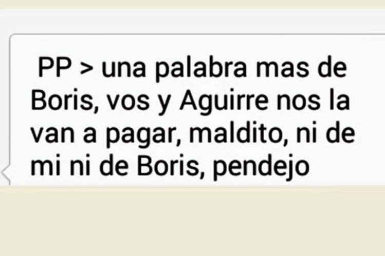 Mensaje de  texto con amenaza, recibido por el corresponsal de Prensa Libre en Chiquimula.