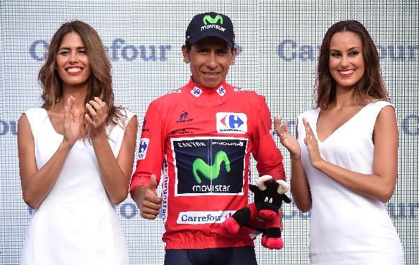El colombiano Nairo Quintana continúa de líder de la Vuelta a España. (Foto Prensa Libre: AFP)