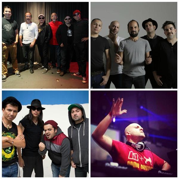 Artistas locales realizan giras por Estados Unidos, Colombia y El Salvador. (Foto Prensa Libre: Bohemia Suburbana, Viernes Verde, Francis Dávila y Keneth Cruz)