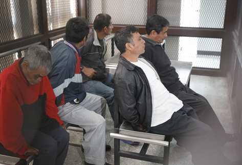 Este lunes se confimó la setencia impuesta a cinco expatrulleros que fueron condenados por la masacre en la aldea Plan Sánchez, Rabinal, Baja Verapaz. (Foto Prensa Libre: Erlie Castillo)