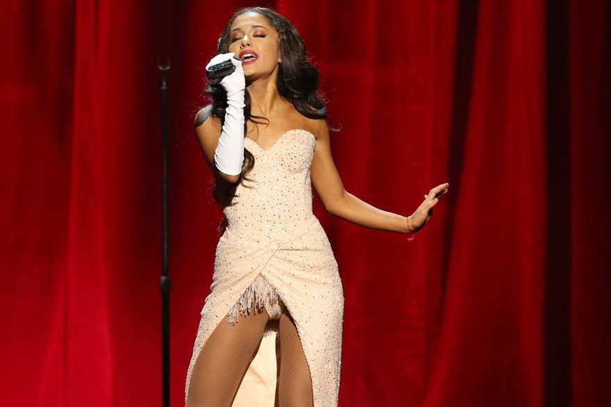 Ariana Grande performs at the American Music Awards at the Microsoft Theater on Sunday, Nov. 22, 2015, in Los Angeles. (Photo by Matt Sayles/Invision/AP)