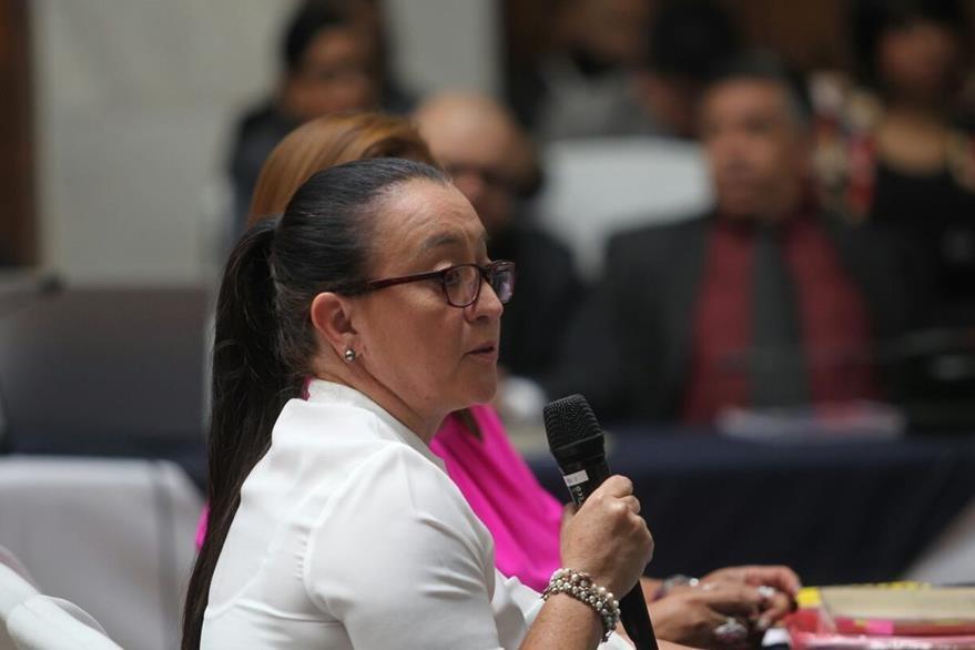 Judith Ruiz solicita al Juzgado de Mayor Riesgo B que no se dicte prisión preventiva, en el caso Cooptación del Estado. (Foto Prensa Libre: Érick Avila)