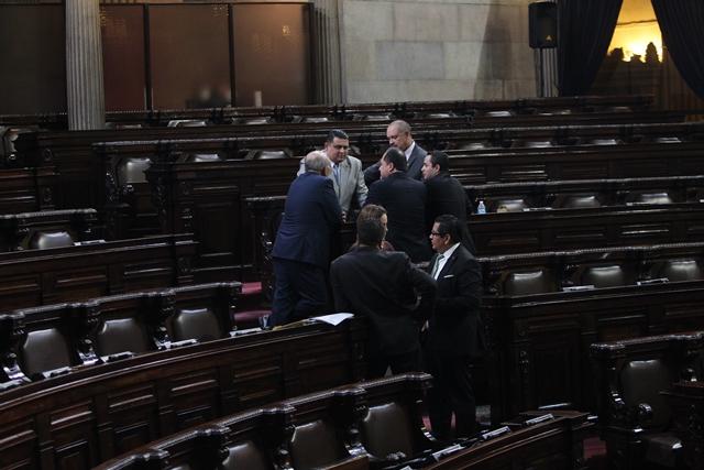 Diputados han jugado con el quórum en el Congreso para evitar avanzar en algunos temas que no les interesan. (Foto Prensa Libre: Hemeroteca PL)
