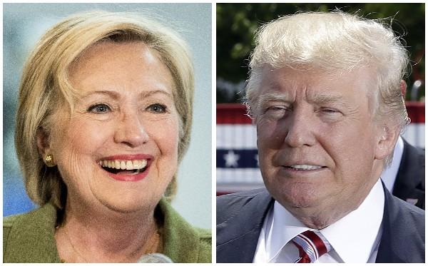 Candidatos a la Casa Blanca, la demócrata Hillary Clinton y el republicano Donald Trump. (AP).