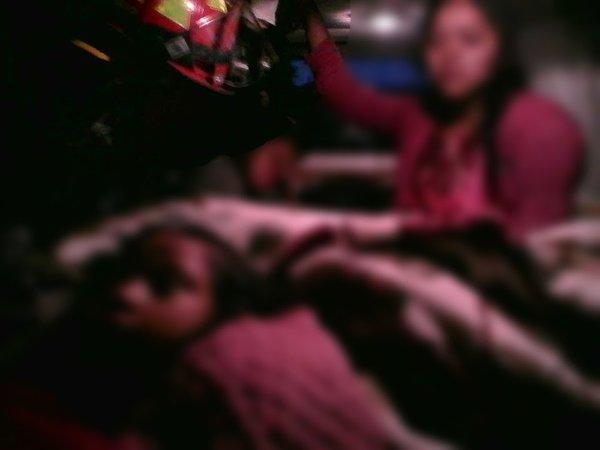 Heridos fueron trasladados al Hospital de Totonicapán. (Foto Prensa Libre: CBMD)