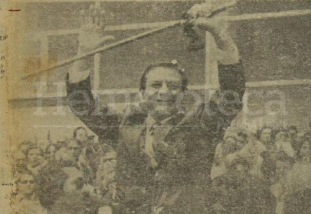 Abundio Maldonado durante la toma de posesión de la Alcaldía capitalina el 15 de junio de 1978. (Foto: Hemeroteca PL)