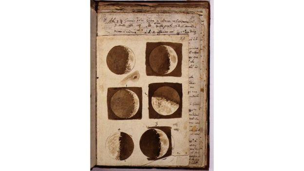 """""""Los dibujos marcan la época en que Galileo comenzó a cambiar la perspectiva de la humanidad sobre nuestra identidad y nuestro lugar en el mundo"""", según Mark McCaughrean. Foto: gentileza ESA"""