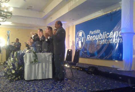 Presentan al Partido Republicano Institucional (PRI). (Foto Prensa Libre: Jessica Gramajo)