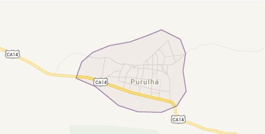 Mapa de Purulhá, Baja Verapaz. (Foto Prensa Libre: Internet).