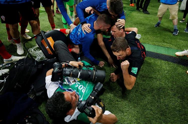 El fotógrafo salvadoreño Yuri Cortez fue protagonista en el partido entre Croacia e Inglaterra