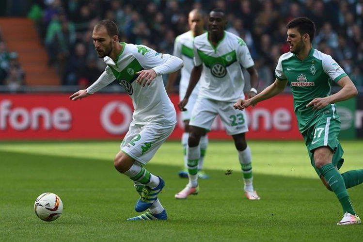 El Werder Bremen acrecentó la crisis del Wolfsburgo luego de ser eliminado de la Champions. (Foto Prensa Libre: EFE)