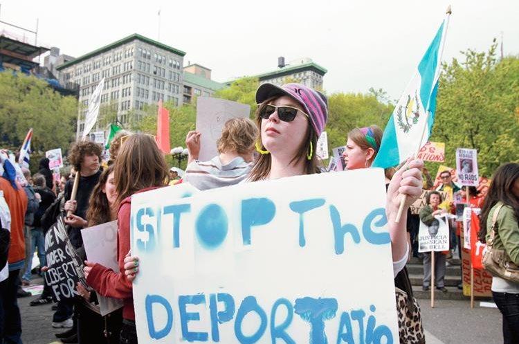 Miles de guatemaltecos que viven en Estados Unidos  están indocumentados y reclaman ser legalizados. (Foto Prensa Libre: Hemeorteca PL)
