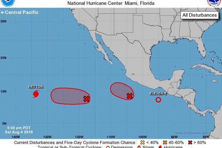 Alerta por acción indirecta de la depresión tropical 11-E (CONRED)