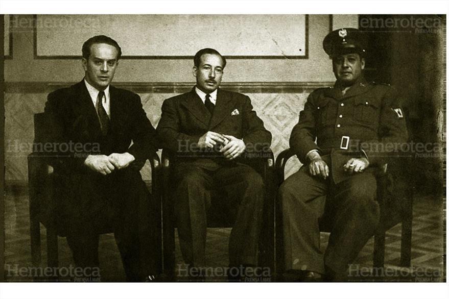Junta de Gobierno, en octubre de 1944. (Foto: Hemeroteca PL)