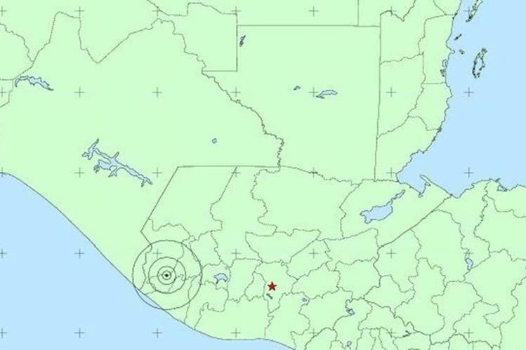 Mapa muestra epicentro del sismo registrado este jueves. (Foto Prensa Libre: Insivumeh)