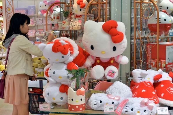 <p>Hello Kitty cumple cuatro décadas. (Foto Prensa Libre: AFP)<br></p>