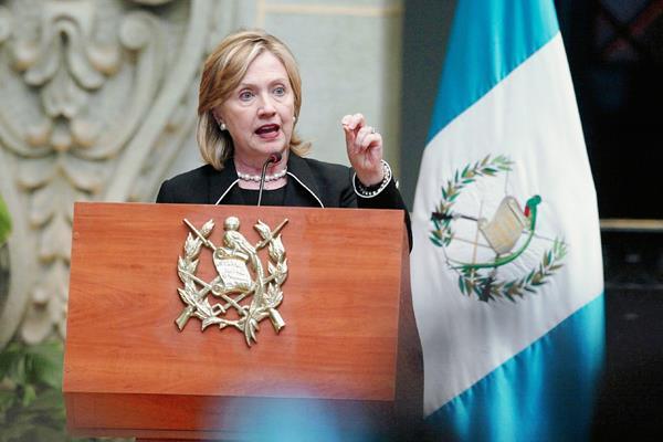 Hilary Clinton en el Palacio Nacional de la Cultura en el año 2010. Foto: Hemeroteca PL