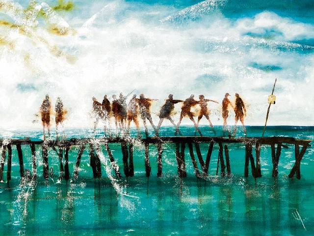 POSTAL CARIBE es una obra cargada de surrealismo y muchos matices.