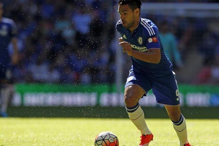 Radamel Falcao tiene otra oportunidad de brillar en la Liga Premier. (Foto Prensa Libre: AFP)