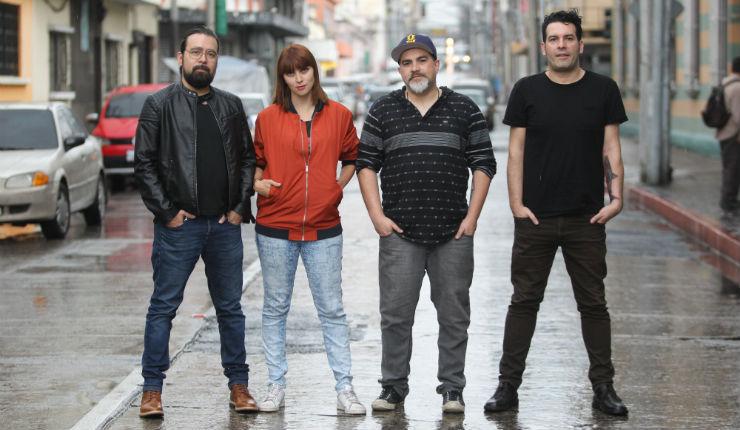 Luispe, Tita, Pepe y Juanca fusionan talento, presentan nuevas melodías y promocionan canción. (Foto Prensa Libre: Keneth Cruz)