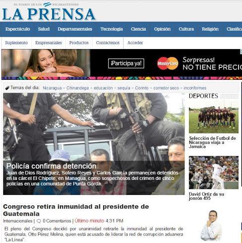 LA PRENSA, MEDIO NICARAGÜENSE.
