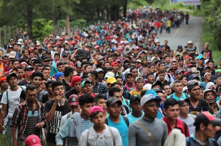 Miles de migrantes del Triángulo Norte de Centroamérica han salido de sus países por la pobreza y violencia. (Foto Prensa Libre: Hemeroteca PL)