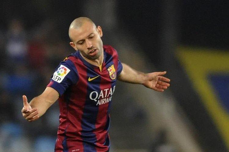Mascherano hará falta al Barcelona en la zona defensiva. (Foto Prensa Libre: Hemeroteca)