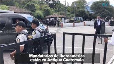 Mandatarios de Iberoamérica se reúnen en Antigua Guatemala