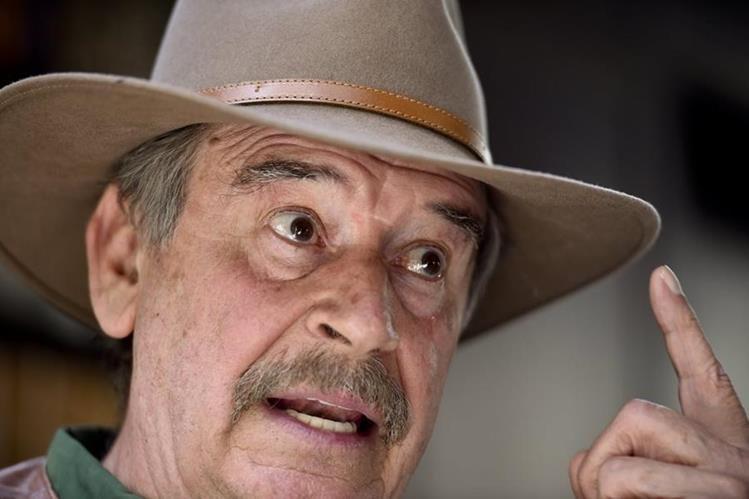 """Vicente Fox, expresidente de México, asegura que Donald Trump es un """"bocón"""". (Foto Prensa Libre: AFP)."""
