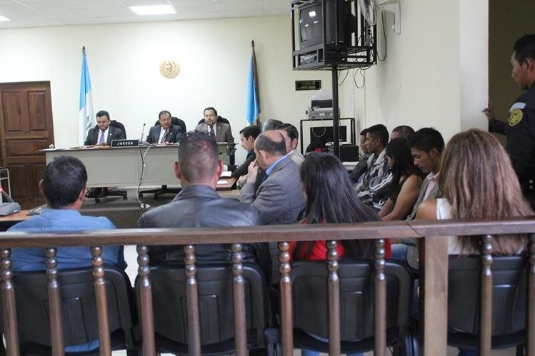 Juez del Tribunal de Sentencia de Huehuetenango da a conocer condena por caso de secuestro. (Foto Prensa Libre: Mike Castillo)