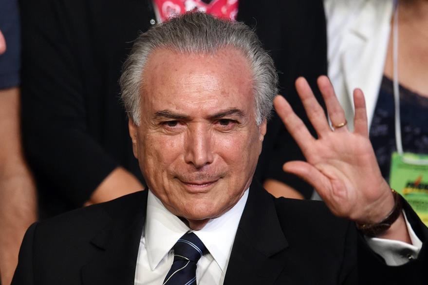 Michel Temer, vicepresidente de Brasil, y antiguo aliado de Rousseff. (Foto Prensa Libre: AFP).