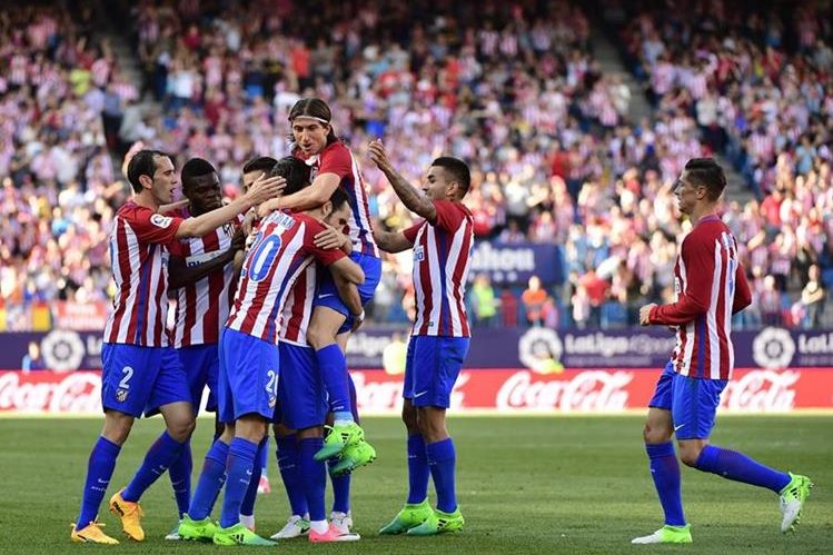 El Atlético de Madrid golea al Osasuna y ahora se enfoca en la vuelta de los cuartos de final de la Liga de Campeones contra el Leicester. (Foto Prensa Libre: AFP)