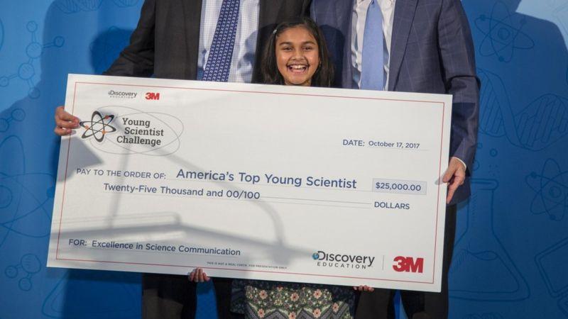 Rao dijo que usará el dinero del premio para refinar su dispositivo (Foto: Discovery Education/Andy King). (Discovery Education/Andy King).