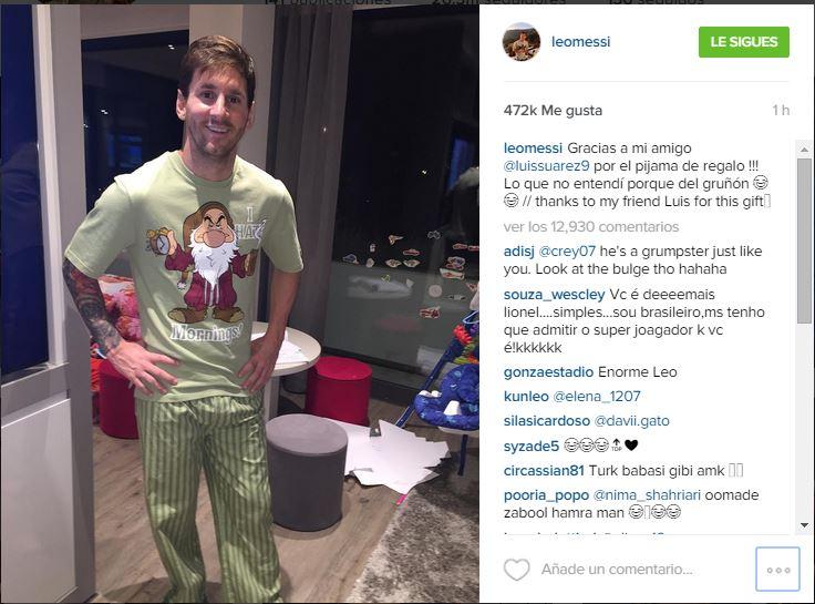 Está es la publicación de Messi en su cuenta de Instagram. (Foto Prensa Libre: Instagram Leo Messi)