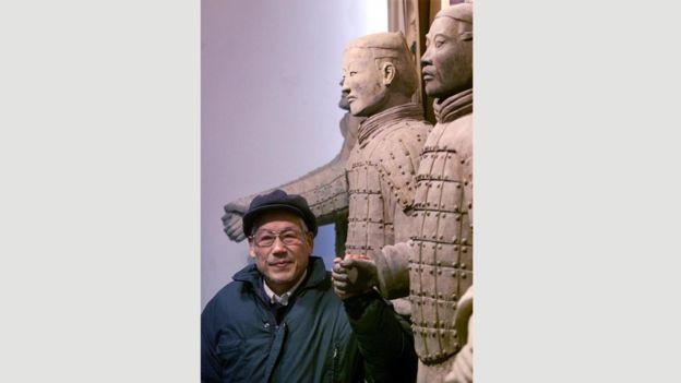 Yang Zhifa descubrió los guerreros de terracota en sus tierras, en 1974. ALAMY